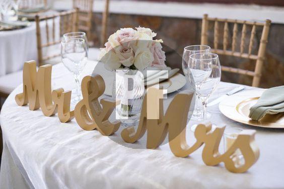 буквы на свадебный стол